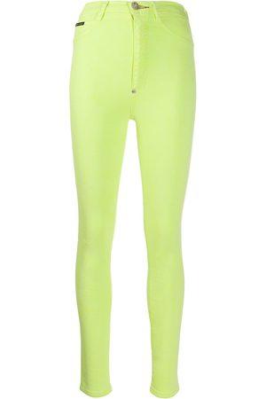 Philipp Plein Ženy S vysokým pasem - Super high-waisted jeggings