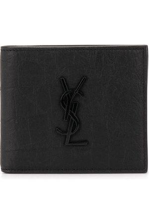 Saint Laurent Wrinkled-effect bi-fold wallet