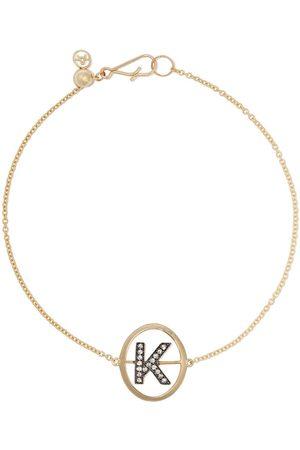 ANNOUSHKA 18kt yellow gold diamond initial K bracelet