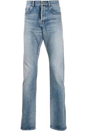 Saint Laurent Stonewashed straight-leg jeans