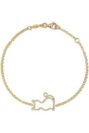 Kiki Mcdonough 18kt yellow gold Memories diamond-set cat bracelet