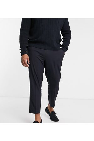 ASOS Plus skinny smart trousers in navy