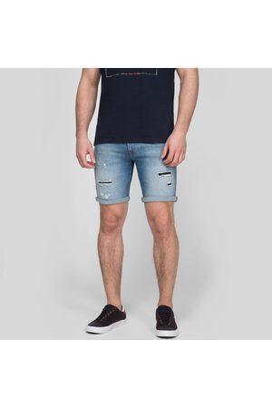 Pepe Jeans Muži Šortky - Pánské světle modré džínové šortky