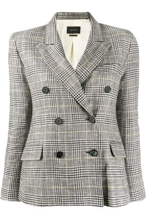 Isabel Marant Celeigh checked double-breasted jacket