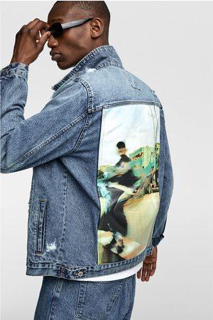 Zara Džínová bunda s potiskem