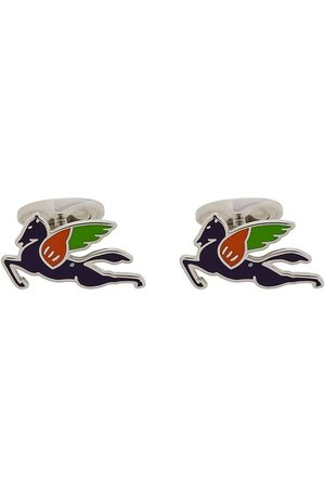 Etro Multicoloured logo cufflinks