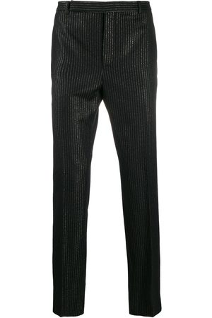 Saint Laurent Metallic stripe tailored trousers