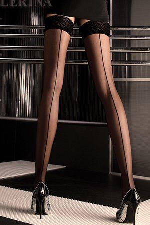 Ballerina Luxusní samodržící punčochy 049