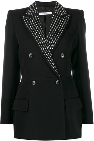 Givenchy Crystal embellished double-breasted blazer
