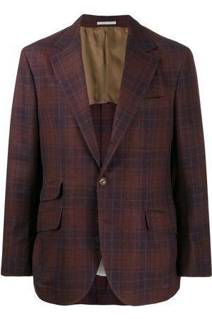 Brunello Cucinelli Tartan pattern blazer