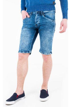 Pepe Jeans Pánské modré džínové šortky Track
