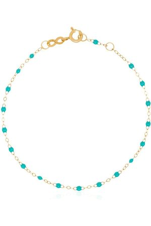 GIGI CLOZEAU 18kt yellow gold turquoise bead bracelet