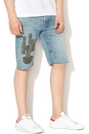 Pepe Jeans Muži Šortky - Pánské světle modré džínové šortky Callen