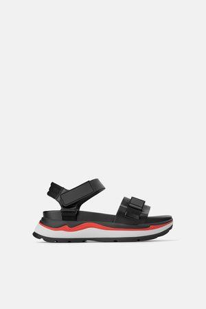 Zara Ženy S otevřenou špičkou - Sportovní sandály na platformě