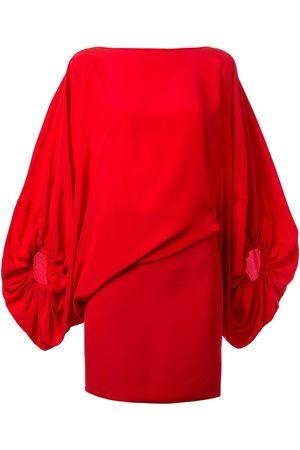 Silvia Tcherassi Genara asymmetric balloon-sleeved mini dress