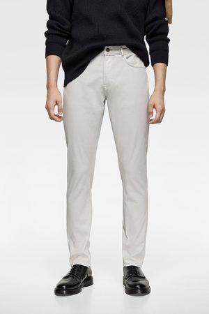 Zara Muži Úzké nohavice - Barevné kalhoty slim
