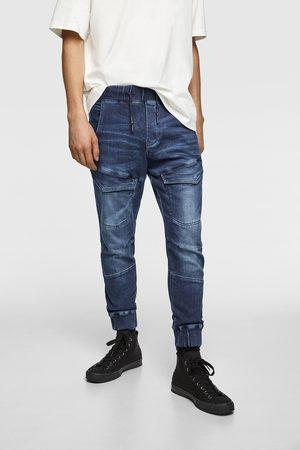 Zara Džínové kalhoty soft jogger