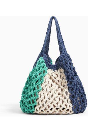 Zara Háčkovaná bavlněná kabelka