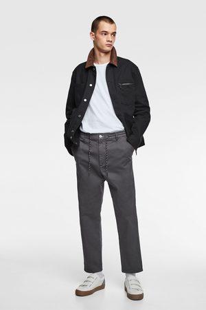 Zara Saténové kalhoty jogger