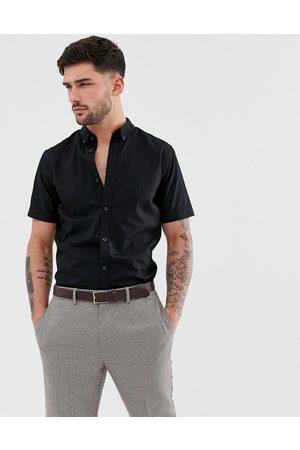 Only & Sons Muži S krátkým rukávem - Short sleeve stretch cotton shirt in black