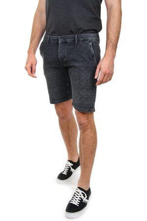 Pepe Jeans Muži Šortky - Pánské tmavě šedé džínové šortky Noah