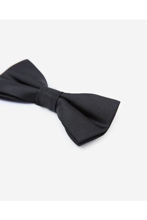 The Kooples Plain black bow tie in silk