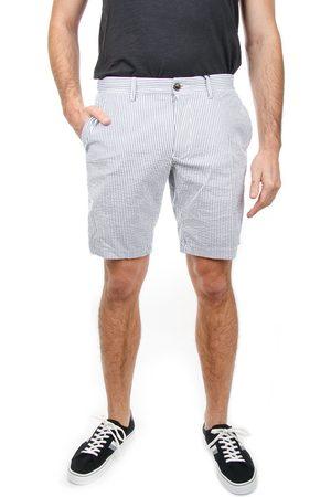 Tommy Hilfiger Pánské bílé šortky s modrým proužkem