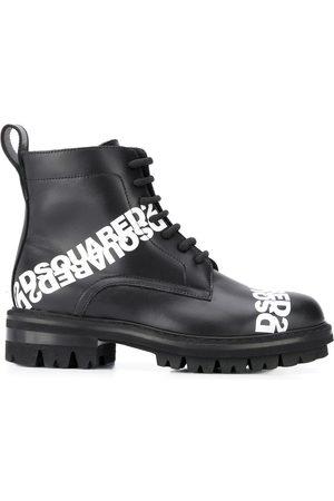 Dsquared2 Ženy Šněrovací - Logo print lace-up boots