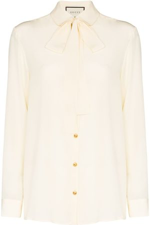Gucci Pussybow collar button-down shirt
