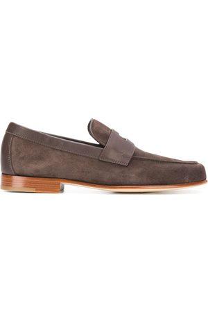 JOHN LOBB Hendra suede penny loafers