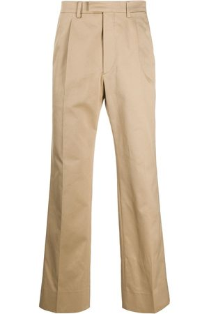 Prada Pleated details straight-leg trousers