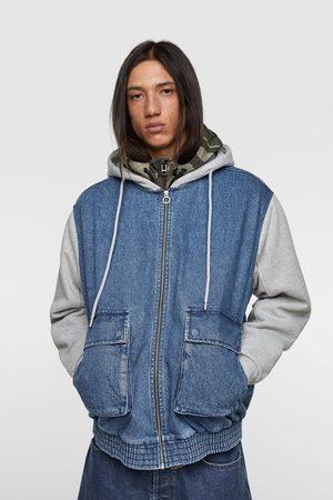 Zara Kombinovaná bunda s kapucí