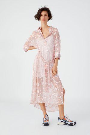 Zara Tunika s výšivkami a páskem