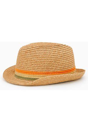 Zara Slaměný klobouk s vetkanými pruhy