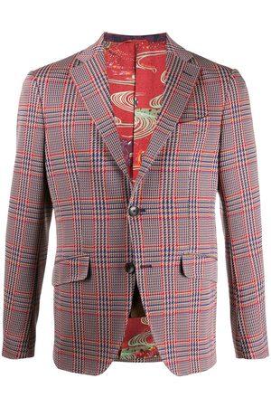 Etro Single-breasted houndstooth blazer