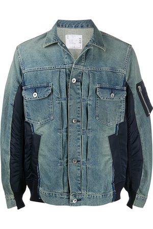 adidas Panelled denim jacket