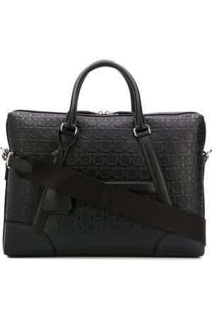 Salvatore Ferragamo Gancini embossed briefcase