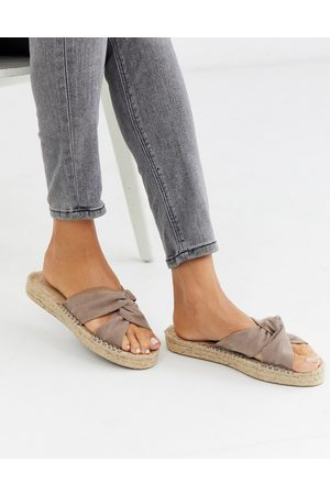 ASOS Jolly knotted mule espadrille in beige