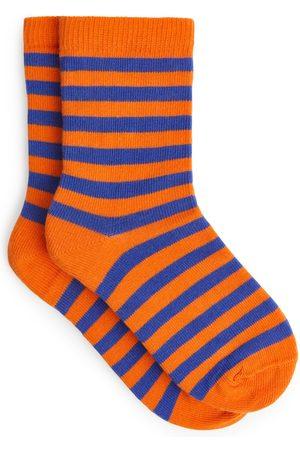 ARKET Striped Socks - Orange