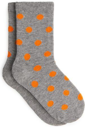 ARKET Polka Dot Socks - Grey