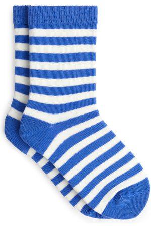 ARKET Striped Socks - Blue