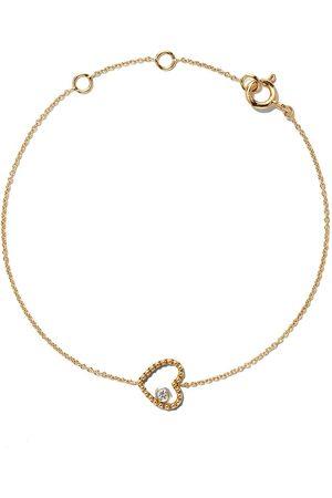 AS29 Ženy Náramky - 18kt yellow gold Mye heart beading diamond bracelet