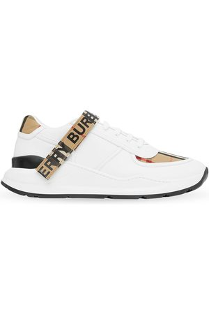 Burberry Vintage Check touch strap sneakers