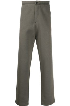 Armani High-waisted straight leg trousers