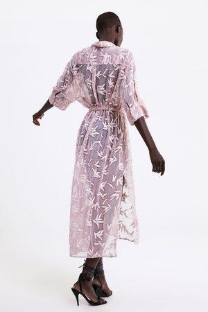 Zara Ženy Tuniky - Tunika s výšivkami a páskem