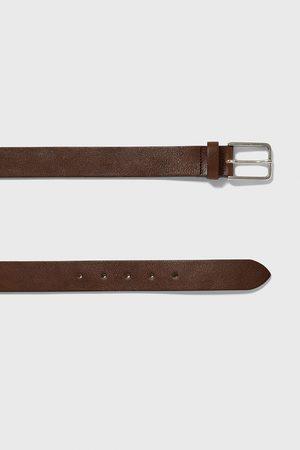 Zara Kožený pásek basic