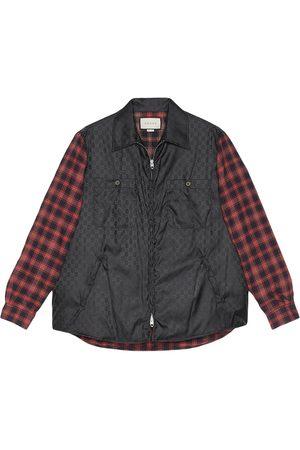 Gucci Check-sleeved zip overshirt