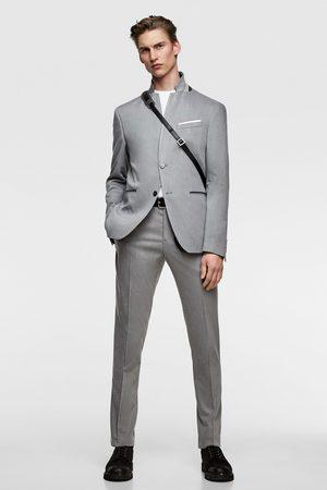 Zara Oblekové sako s kontrastním límečkem