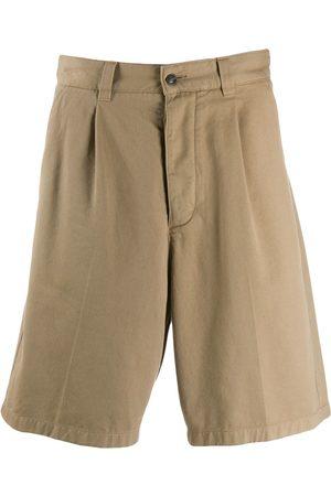 Ami Men Pleated Bermuda Shorts