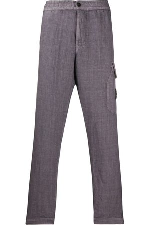 Stone Island Compass-patch straight trousers